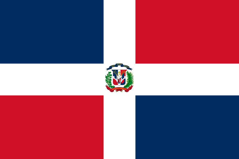 Dominican Republic Flagge